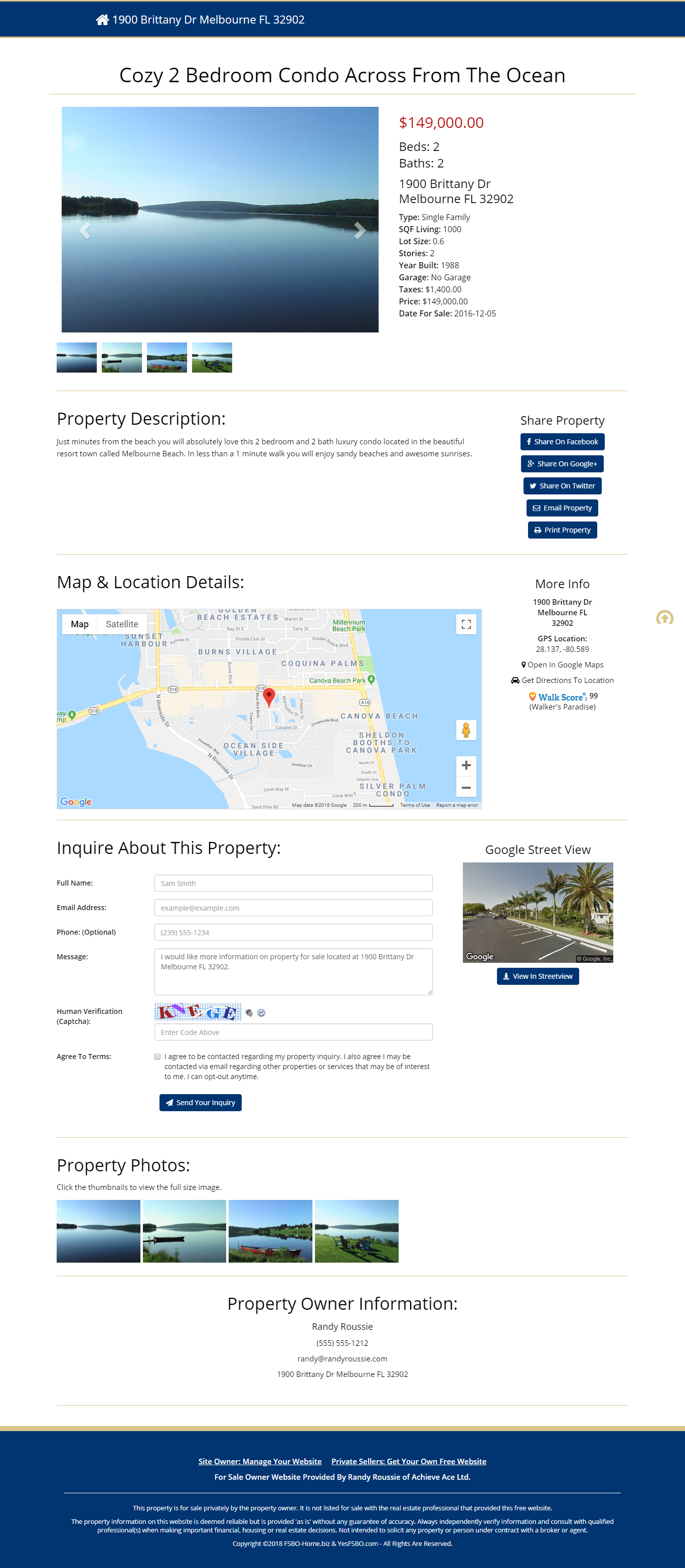 Free website for sale by owners and free website for private home sellers